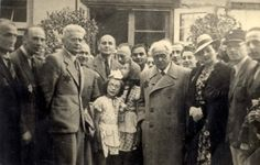 Lodz, Poland, Rumkowski, head of the Judenrat, with residents of the ghetto. No record of any pictured surviving the holocaust
