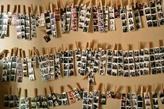 Might have to do this with some of our many photostrips from our wedding photobooth!