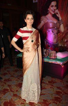 a modern twist - my type of saree :)