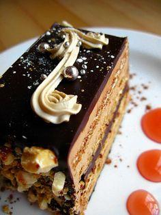 Hazelnut Opera Cake   Flickr - Photo Sharing!