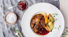 Juhlava palapaisti on erinomainen vaihtoehto Suomi 100 -menun pääruoaksi. Pot Roast, Food And Drink, Beef, Ethnic Recipes, Carne Asada, Meat, Roast Beef, Steak