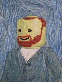 Van Gogh Self-portrait Lego Art Parody