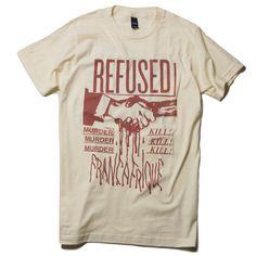 REFUSED バンドTシャツ Francafrique T-Shirt (Natural)