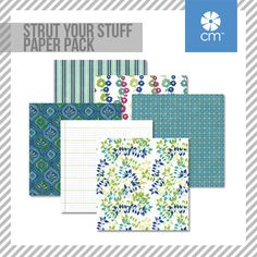 The Strut Your Stuff Paper Pack includes 12 sheets of double-sided papers; 6 unique designs featuring tone-on-tone on one side and designer on the other side. #CreativeMemories http://www.creativememories.com/creative-memories/decorative/paper-packs.html