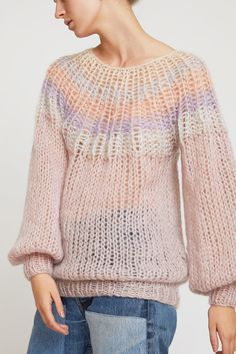 GANNI The Julliard Mohair Pullover in Lilac in 2020
