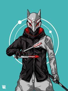 Inari, the fox god from God Complex. Character Concept, Character Art, Concept Art, Ronin Samurai, Samurai Artwork, Arte Cyberpunk, Ninja Art, Cyberpunk Character, Desenho Tattoo
