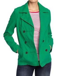 argh!  Lightweight (nonwool) kelly green peacoat I've been looking for the past three winters.  Again Old Navy is already out of all the larger sizes >.