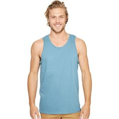 Hurley Staple Tank Top (Smokey Blue) Men's Sleeveless ($20) ❤ liked on Polyvore featuring men's fashion, men's clothing, men's shirts, men's tank tops, mens tank tops, mens sleeveless pullover, hurley mens shirts, mens classic fit shirts and mens cotton sleeveless t shirts