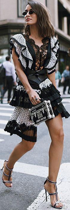 Street Style ~ Camila Coelho wearing Zimmerman NYFW '17.