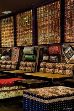 Salvage Lounge Bar // Straight Designs ~Via NateNetara Lobby Lounge, Bar Lounge, Restaurant Lounge, Restaurant Design, Bars And Clubs, Modern Lounge, Hospitality Design, Cafe Bar, Moorish