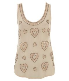 Lipsy Heart Detail Top