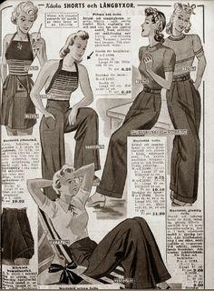 Trousers for outdoors activities - via Evas liv - med sömsmån
