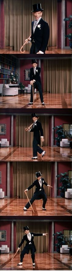 Fred Astaire dancing to Puttin' on the Ritz.