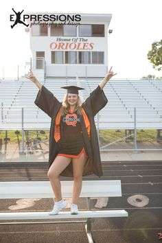 Cheer • Cap and Gown • Senior Pictures •