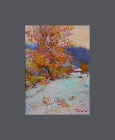 Small Winter Painting  Winter Landscape Painting  Winter by Pysar,