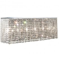 Prostokątna kryształowa lampa sufitowa plafon Euphoria - LampyTanie - 3068,78 PLN