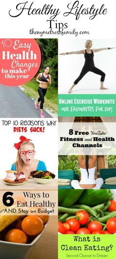 Get fit this year. Healthy lifestyle tips so you can make health a part of your everyday life.