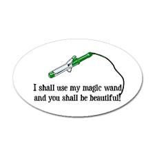 I shall use my magic wand and you shall be beautiful!  curling iron | magic want curling iron | hairdresser humor | hair fairy godmother | hair humor