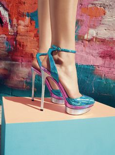 Ultra-bright Metallics: B Brian Atwood Pump #Nordstrom #Exclusive #FebruaryCatalog