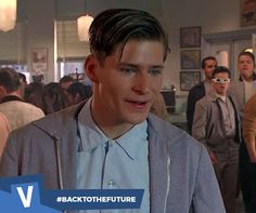 Did you know: Crispin Glover who played George Mcfly in Back to the Future was not in any of the sequels. He was played by a different actor who wore prosthetics to make him look like Glover and old footage was reused! #backtothefuture #crispinglover #martymcfly #georgemcfly #moviefact #voltaplay