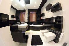 Klasyczne, eleganckie meble łazienkowe w aranżacji łazienki w kolorystyce B&W http://mobiliani.pl/projekty/meble-lazienkowe-w-klasycznej-czerni/