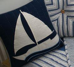 Nantucket Sailboat Pillow