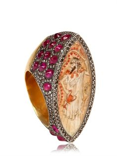 SEVAN BIÇAKCI - DIAMONDS AND RUBIES GOLD RING - LUISAVIAROMA - LUXURY SHOPPING WORLDWIDE SHIPPING - FLORENCE