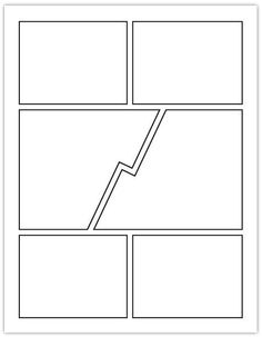 template layout comic books - Google Search