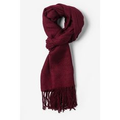 Burgundy Acrylic Calgary Stripe Scarf | Scarves.com ($25) ❤ liked on Polyvore featuring accessories, scarves, wrap shawl, tie scarves, striped scarves and acrylic scarves