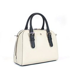 Kate Spade Cove Street Colorblocked Small Felix Satchel Bag, Ostrich Egg/Black