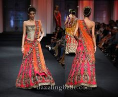 I'm really liking the look of a corset lehenga. Edgy yet traditional.