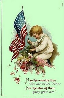 It's not necessarily traditional to send cards to US military veterans for Memorial Day or Veterans Day, but there's no reason not to start that tradition right now using these patriotic vintage post cards. Memorial Day Events, Veterans Memorial Day, Happy Memorial Day, Memorial Day Quotes, Vintage Cards, Vintage Postcards, Vintage Images, Vintage Pictures, Vintage Flag