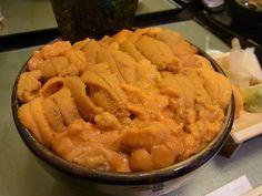 ウニ丼 Japanese Bowls, Japanese Food, Vegan Foods, Bon Appetit, Street Food, Apple Pie, Macaroni And Cheese, Sushi, Cravings