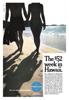 1967 Travel advertisement for Pan Am and Hawaii