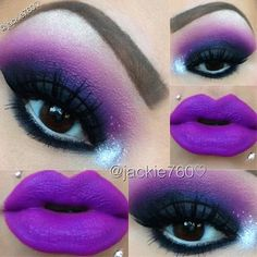 .@jackie760 | Makeup of the day,I just can't get enough of purples & my Heroine #teampu... | Webstagram - the best Instagram viewer