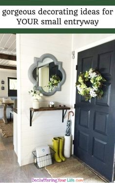 gorgeous decorating ideas for YOUR small entryway