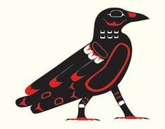 Northwest Native American Crow