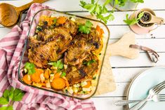 Koteletter i ovn med rotgrønnsaker Tandoori Chicken, Nom Nom, Grilling, Turkey, Food And Drink, Meat, Ethnic Recipes, Turkey Country, Crickets