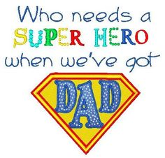 Super Hero Dad Applique Father's Day by HappyEndingsDesigns