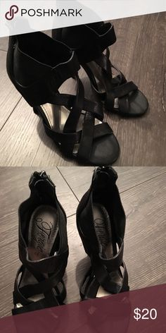 9fb3ae14fdb7 Black Strappy Heels Fergie Black Strappy Heels in size 6. Very good  condition. Great