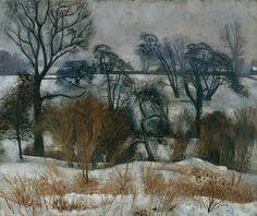Winter John Arthur Malcolm Aldridge oil on canvas 51 x 61 cm Government Art. Winter Landscape, Landscape Art, Landscape Paintings, Landscapes, John Aldridge, John Nash, Mermaid Drawings, Art Uk, Winter Art