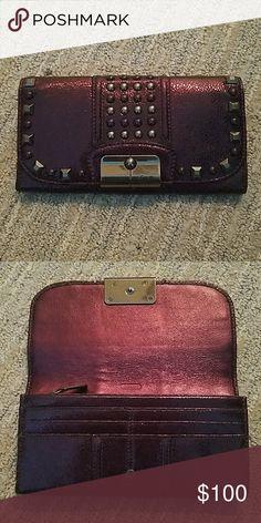 Coach Shimmered Wallet - Selling Matching Bag! 10 credit card slots, zipper pocket, 3 cash pockets Coach Bags Wallets