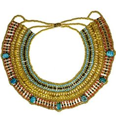 Egyptian Jewelry Cleopatra Beaded Necklace - Medium KemetArt http://www.amazon.com/dp/B005SNZ928/ref=cm_sw_r_pi_dp_xoJ.ub1HK4R1T