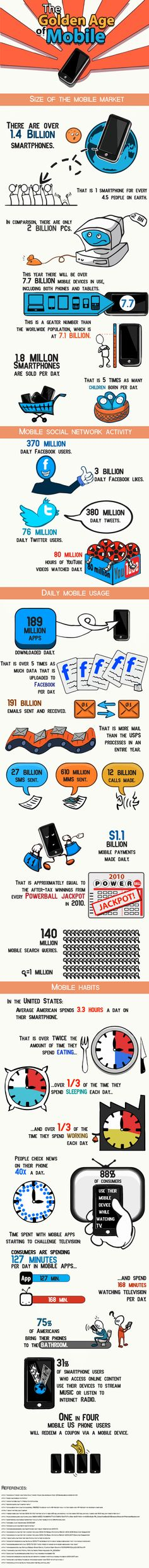The Golden Age of #Mobile - #infographic
