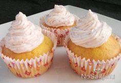 Muffin epres mascarponekrémmel Mini Cupcakes, Food, Essen, Meals, Yemek, Eten