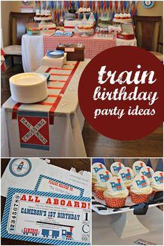 boy's train birthday party ideas www.spaceshipsandlaserbeams.com