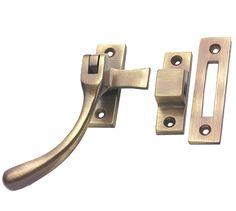 "2x QUALITY LOCKING CASEMENT WINDOW STAYS+SCREWS 250mm//10/"" SET White Latch Handle"