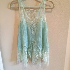Free People Tank Beautifully laced tank from Free People Intimately. Free People Tops Tank Tops