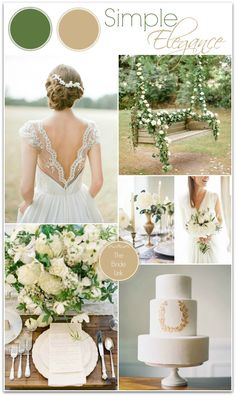 Simple White and Gold Wedding Ideas