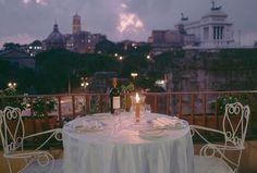 ITALY. Rome. October 1994. A dinner setting. Steve McCurry